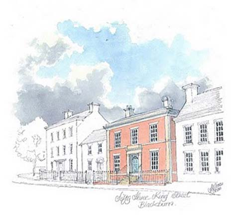 Huw Thomas's vision of the retained house and restored terrace